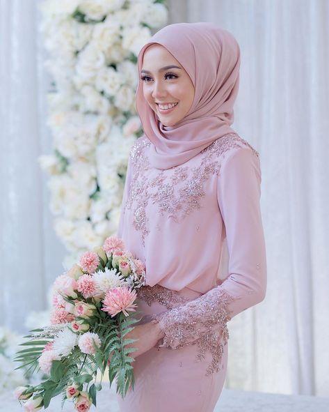 Baju tunang dusty pink