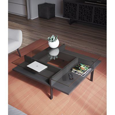 Bdi Usa Terrace Coffee Table Color Natural Walnut En 2020
