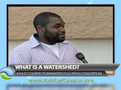 """The Ashley Cooper Stormwater Education Consortium, in an effort to meet the goal of increasing awareness that we all live in a watershed, took to the streets with MyTV24's news crew to ask residents of the Charleston, Berkeley and Dorchester region, """"do you know what a watershed is?"""" http://www.ashleycooper.org"""