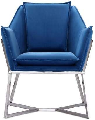 Ceets Origami Accent Chair Blue Accent Chairs Cane Back Chairs