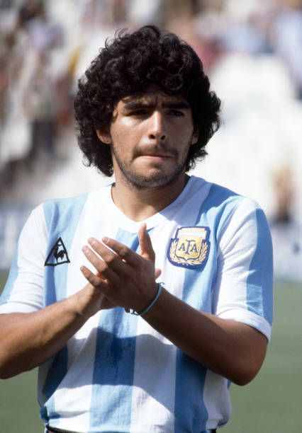 Diego Maradona Of Argentina Prior To The Fifa World Cup Match Between Argentina And Italy At The Estadio Sarria I Diego Maradona Football Images Spain Football