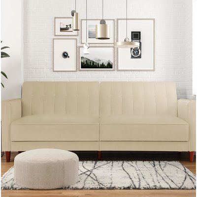Willa Arlo Interiors Hammondale Pin Tufted Convertible Sofa