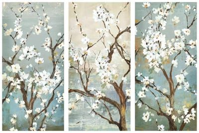Triptych In Bloom Canvas Artwork By Asia Jensen Icanvas In 2021 Triptych Canvas Artwork Canvas Art Prints