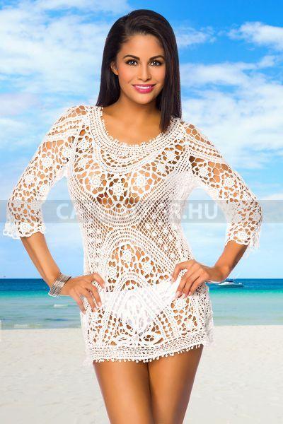 bab26192b Tunika 14006, csodás, horgolt - fehér | swimsuit & beachwear ...