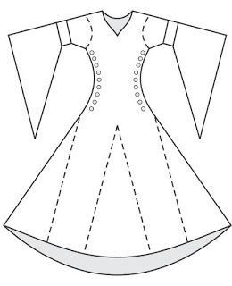 Resultado de imagem para fazer vestido medieval