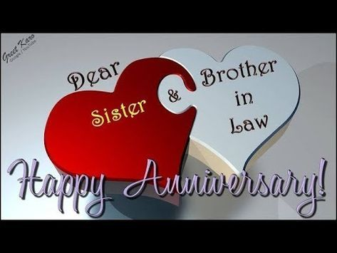 Happy Anniversary Greetings For Sister Brother In Law G2b