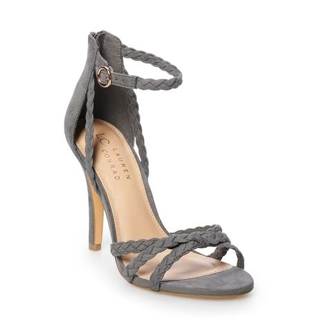 LC Lauren Conrad Pie Crust Womens Braided High Heels   Lc