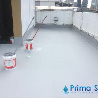 Prima Seal Waterproofing Singapore S Trusted Team Provided A 5 Layers Acrylic Waterproofing Membrane Fibregl Reinforced Concrete Roof Waterproofing Fiberglass
