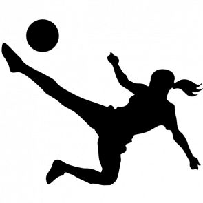f108047c5e1 girl sports silhouette - Google Search | Sports Banquet | Soccer art, Female  soccer players, Soccer
