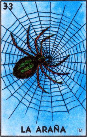 Image result for loteria cards la arana
