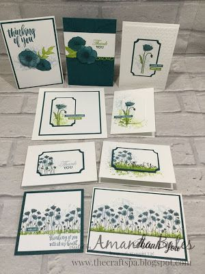 The Craft Spa Stampin Up Uk Independent Demonstrator Order Stampin Up In Uk Painted Poppies Thank You Cards And Round Up In 2020 Your Cards