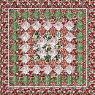 Your Christmas fabric will really stand out in this medallion quilt pattern by @Marija Vujcic.