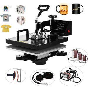 Vevor Heat Presses 15 X 15 Inch 8 In 1 Digital Multifunctional Sublimation T Shirt Heat Press Machine Best Heat Press Machine Heat Press Machine Press Machine