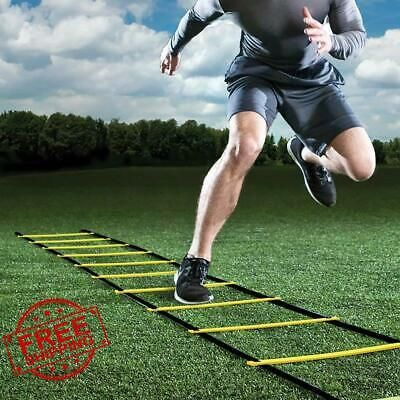 Advertisement Ebay Training Ladder For Soccer Speed Football Fitness Feet Jumping Training 16 Rung In 2020 Agility Ladder Ladder Workout Soccer Training
