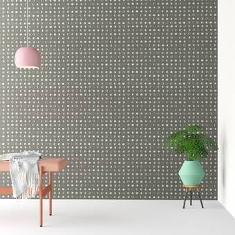 Liljenquist 31 1 X 31 1 Peel And Stick Vinyl Wall Paneling In White Polka Dots Wallpaper Dots Wallpaper Vinyl Wall Panels