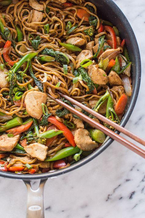 30 Minute Chicken Chow Mein   healthynibblesandbits.com