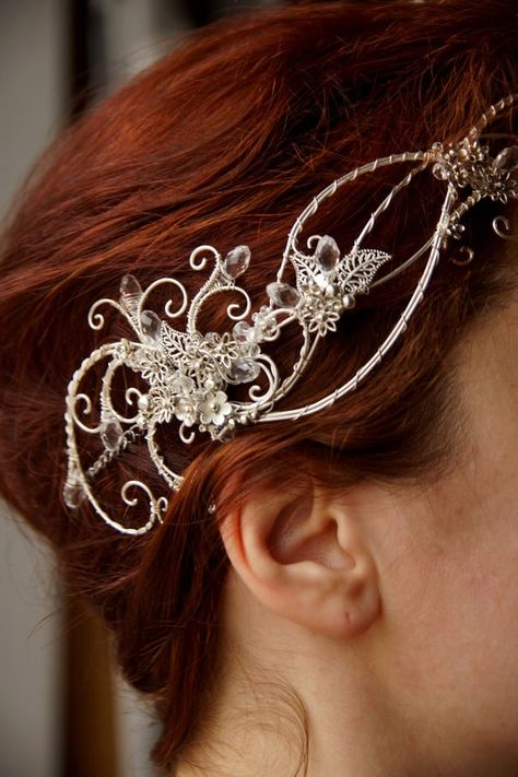 Fascinator Hair Circlet *Icy Cat* Shooting Accessory