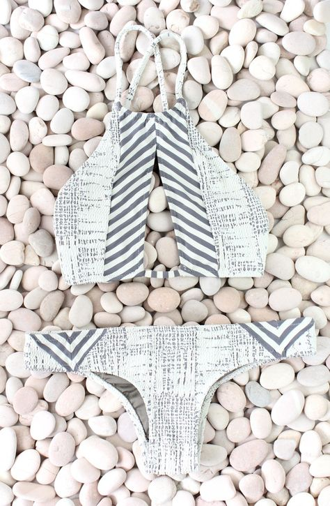 Hunter Lily High neck top swimsuit via Made by Dawn