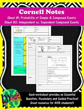 Probability Unit | Cornell Notes | MissMathMatters (Middle