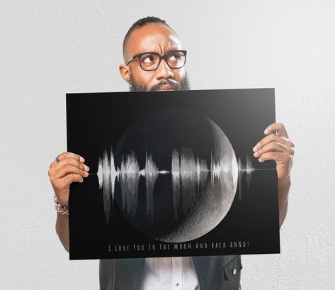 I love you to the moon and back! We combine your voice wave saying this special phrase with a moon photo which makes for a great gift for any occasion including first anniversaries, bdays, or just because. . . . . . . . . . . . . . . . .  #firstanniversary #soundwavepic #soundwavepic #soundwaveart #soundwaveprint #1stanniversary #art #love #giftforher #decor #decorationideas #interiordesign #homedesign #homedecor #iloveyou #giftforher #giftforhim #presents #tbt #valentinesday