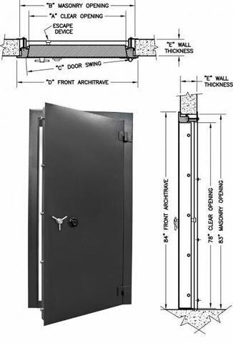 Access 7832 2 Insulated Vault Door Safe And Vault Store Com Vault Doors Wall Safe Safe Door