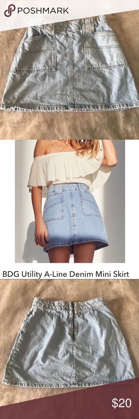 b47fcd696a Urban Outfitters BDG Light Denim A-line Skirt lightly worn, great  condition, 28