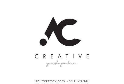 ac letter logo design mit kreativer moderner trendiger typografie und schwarzen farben marketing entwerfen vektorgrafik drache vektor gimp