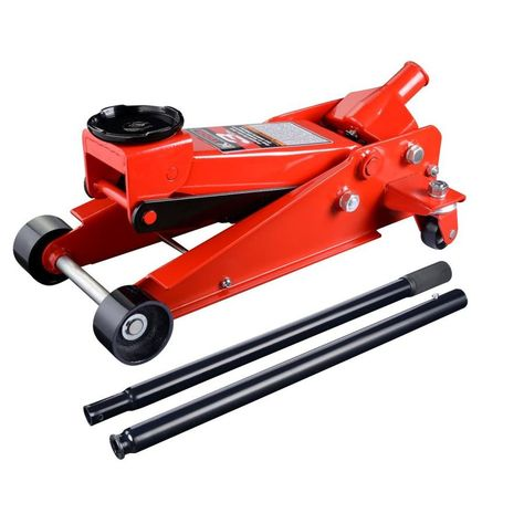 K Tool International Red Made Of Steel Hydraulic Floor Jack In