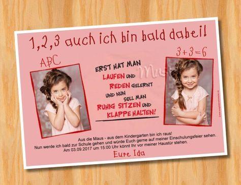 Einladungskarten Einschulung Schulanfang MUSTER 53 Bild