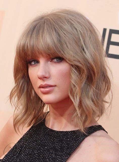 Taylor Swift Mittel Bob Welle Frisur Capless Menschenhaar Perucke 12 Zoll In 2020 Taylor Swift Short Hair Taylor Swift Haircut Taylor Swift Hair