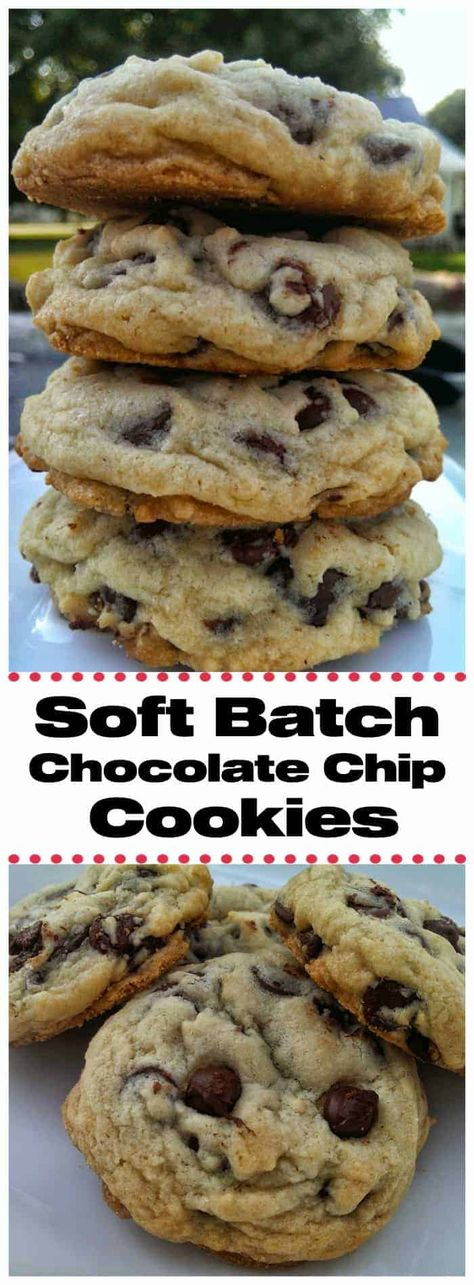 """Soft Batch Chocolate Chip Cookies! Pure Nirvana! Delectable, insane, buttery, rich, thick, soft-batch chocolate chip cookies are pure """"Nirvana"""". You won't want to miss out on these! #chocolatechip #cookies #softbatch #baking #chocolate #bestcookies #chocolatechipcookies #bestchocolatechipcookies"""