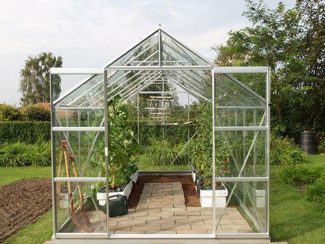 Serre De Jardin En Verre Trempe Uranus Gris 9 843 M Egt Avec Images Serre Jardin Jardins Serre