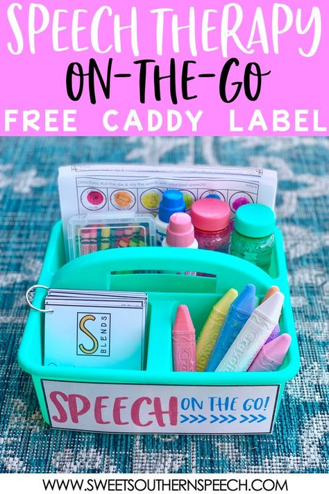 Ideas for On-The-Go Speech Therapy Activities - Sweet Southern Speech Speech Therapy Organization, Preschool Speech Therapy, Articulation Therapy, Articulation Activities, Speech Activities, Speech Therapy Activities, Speech Language Pathology, Speech And Language, Preschool Songs