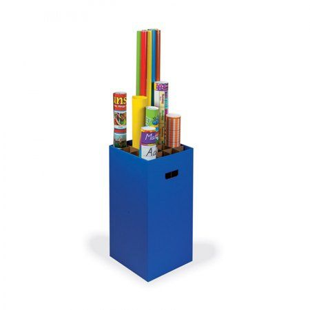 Classroom Keepers Poster And Paper Roll Storage Bin Blue Walmart Com Poster Storage Classroom Storage Wrapping Paper Organization