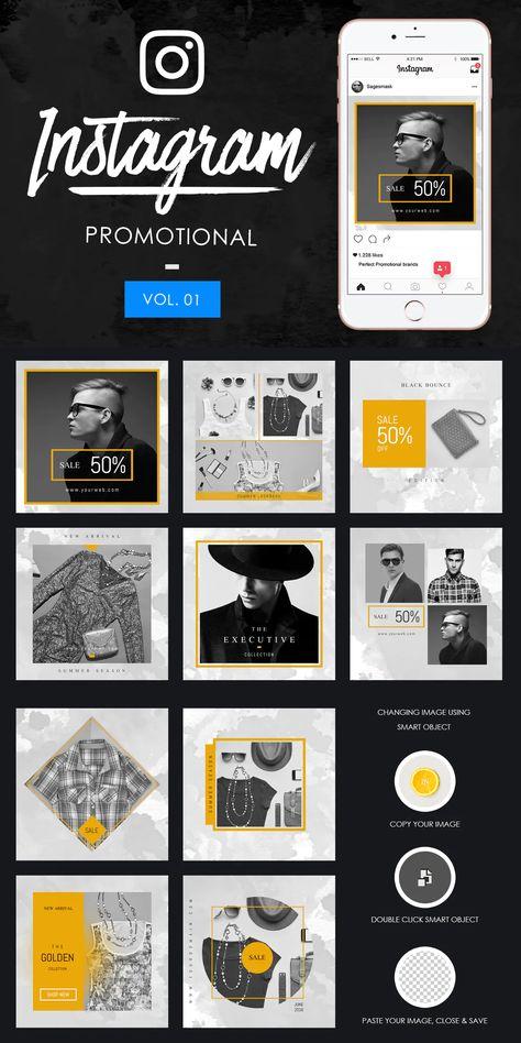 10 Instagram Promotional Design PSD