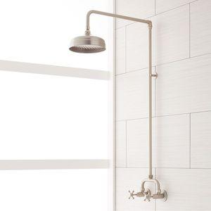 370007 Baudette Two Handle Shower Faucet Brushed Nickel