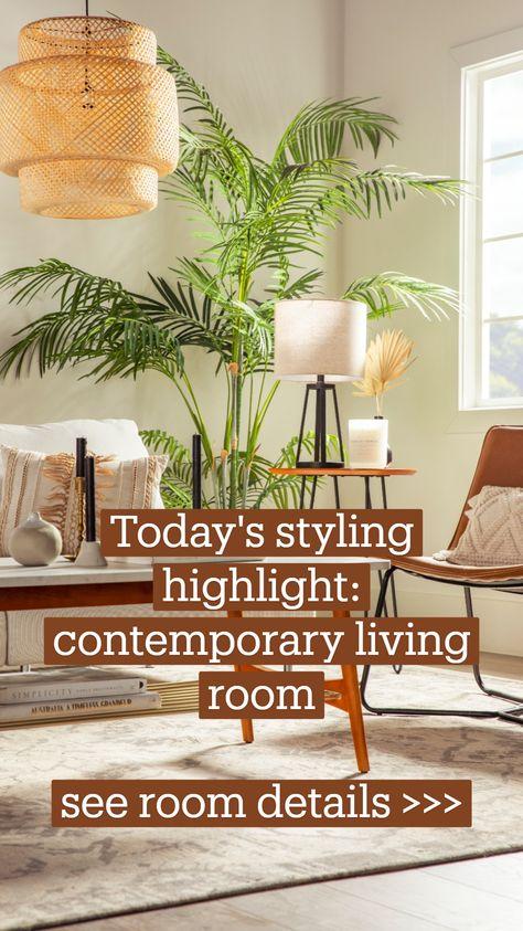 Neutral, Contemporary Living Room