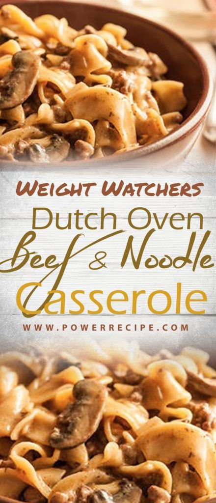 Perfect For Chilly Evenings This Satisfying One Pot Meal Marries Tender Whole Wheatnoodles With Veggies Ground Beef Beef And Noodles Dutch Oven Beef Recipes
