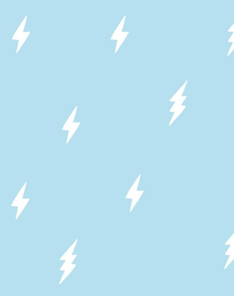 'Zeus Lightning' Wallpaper by Tea Collection - Baby Blue - Removable Panel - Sample