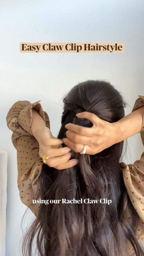 Easy Claw Clip Hairstyle summer 2021 hair looks hairstyle hair claw hair accessories long hair