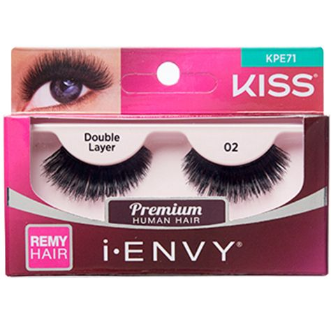 7431efb184c Kiss i-ENVY Premium Human Remy Hair Eyelashes 1 Pair Pack - Double Layer 02  #KPE71 $4.49 Visit www.BarberSalon.com One stop shopping for Professional  Barber ...