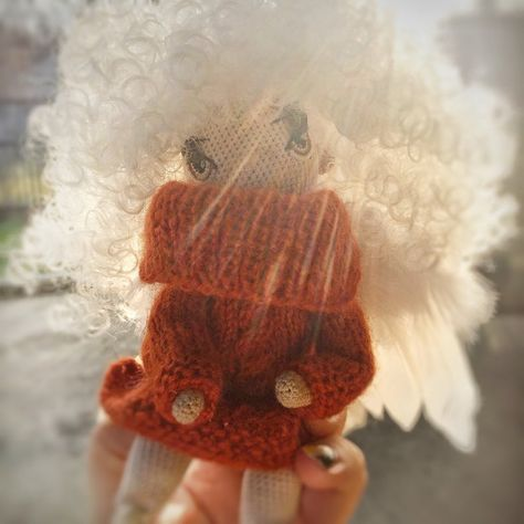 angel doll exclusive handmade toy doll animal crochet doll in warm dress doll as a gift to the girl blond angel toy as a gift for Christmas : Angel doll exclusive handmade toy doll animal crochet doll in