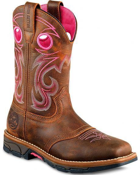 Marshall Pink Work Boots - Steel Toe