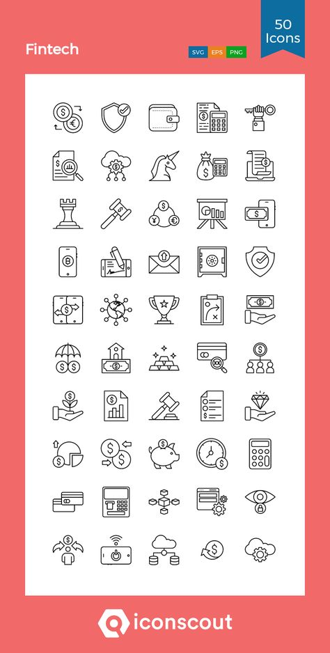 Download Fintech Icon pack - Available in SVG, PNG, EPS, AI & Icon fonts