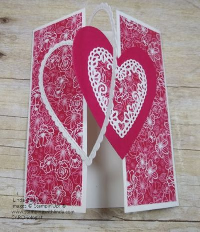 Heart Opening Gate Fold Card Video With Images Valentines