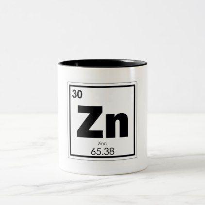 Zinc Chemical Element Symbol Chemistry Formula Gee Two Tone Coffee