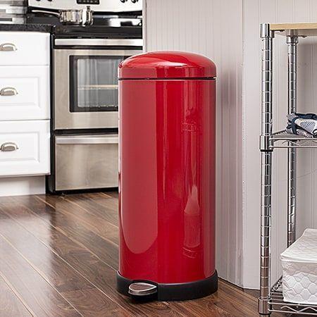 Retro Kitchen 30l Soft Close Red Honey Can Do Steel In 2020 Red Kitchen Decor Kitchen Trash Cans Diy Kitchen Decor