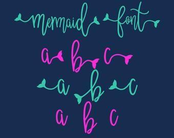 Mermaid Tail SVG Font Mermaid Vibes SVG Font Mermaid Tail