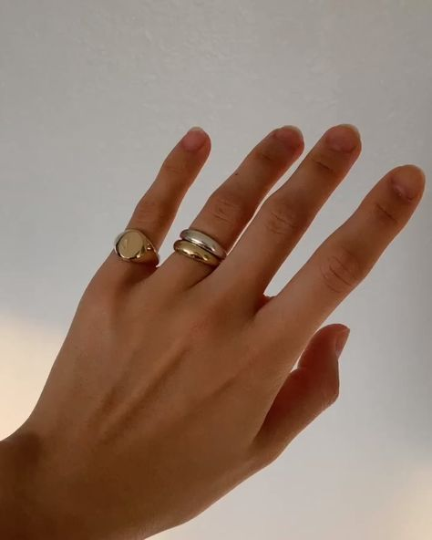 Solid 14k Gold Ring Stack   Made to Last a Lifetime
