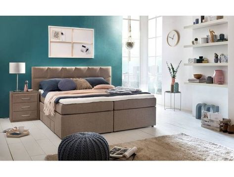 Mobelfreude Boxspringbett Andybur Mit Bettkasten Creme 180x200 Cm H2 Furniture Home Decor Decor